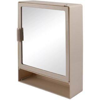 Zahab Hifi Single Door Plastic Bathroom Cabinet With Mirror Shelf Ivory