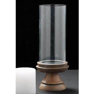 Wooden Pillar Candle Holder