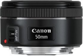 Canon EF 50 mm f/1.8 STM Lens(Black, 50)
