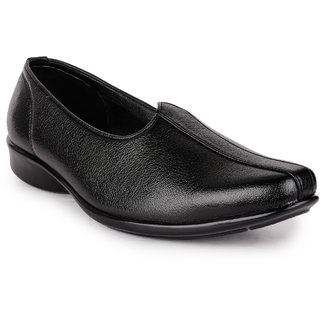 Action MenS Black Casual Slip On Shoes