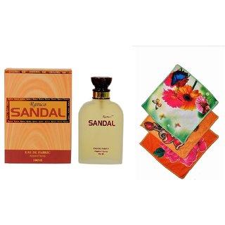 Ramco Woody Sandal Perfume 100ML 3 Women Cotton Handkerchiefs