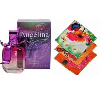Ramco Exotic Angelina Perfume 100ML 3 Women Cotton Handkerchiefs