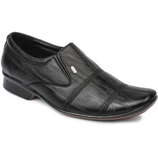 Action MenS Black Formal Slip On Shoes