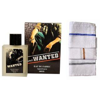 Ramco Exotic  Wanted Perfume 100ML 3 Men Cotton Handkerchiefs