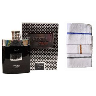 Ramco Exotic Steel Trap Perfume 100ML 3 Men Cotton Handkerchiefs