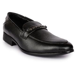 Action MenS Black Formal Slip On Shoes