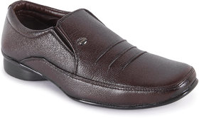 Action Men'S Brown Formal Slip On Shoes
