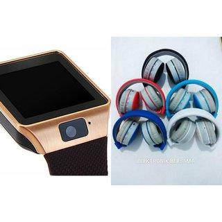 Zemini DZ09 Smartwatch and MS 771C Bluetooth Headphone for REDMI NOTE(DZ09 Smart Watch With 4G Sim Card, Memory Card| MS 771C Bluetooth Headphone)