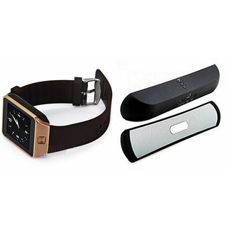 Zemini DZ09 Smartwatch and B 13 Bluetooth Speaker  for MOTOROLA moto g 4g(DZ09 Smart Watch With 4G Sim Card, Memory Card| B 13 Bluetooth Speaker)