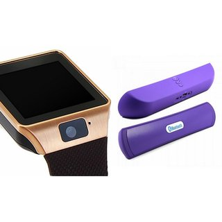 Zemini DZ09 Smartwatch and B 13 Bluetooth Speaker  for SONY xperia e3.(DZ09 Smart Watch With 4G Sim Card, Memory Card| B 13 Bluetooth Speaker)