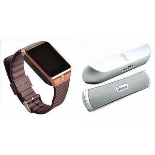 Zemini DZ09 Smartwatch and B 13 Bluetooth Speaker  for PANASONIC T40(DZ09 Smart Watch With 4G Sim Card, Memory Card  B 13 Bluetooth Speaker)