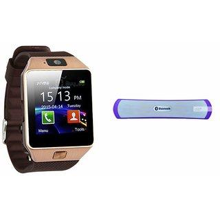 Zemini DZ09 Smartwatch and B 13 Bluetooth Speaker  for SONY xperia tipo (DZ09 Smart Watch With 4G Sim Card, Memory Card  B 13 Bluetooth Speaker)