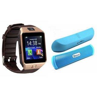 Zemini DZ09 Smartwatch and B 13 Bluetooth Speaker  for HTC ONE M9(DZ09 Smart Watch With 4G Sim Card, Memory Card| B 13 Bluetooth Speaker)