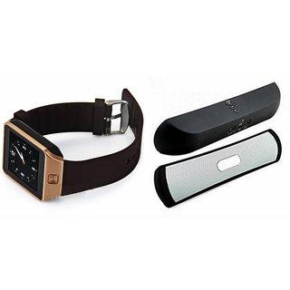 Zemini DZ09 Smartwatch and B 13 Bluetooth Speaker  for PANASONIC P3 1(DZ09 Smart Watch With 4G Sim Card, Memory Card| B 13 Bluetooth Speaker)