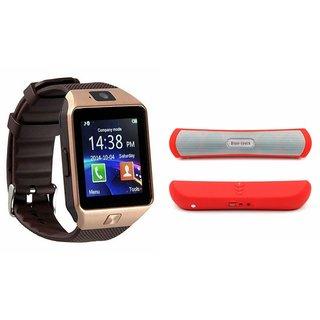 Zemini DZ09 Smartwatch and B 13 Bluetooth Speaker  for SONY xperia p(DZ09 Smart Watch With 4G Sim Card, Memory Card| B 13 Bluetooth Speaker)