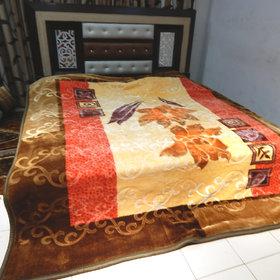 Peponi 6 Kg Double Ply Floral Design Double Bed Soft Mink Blanket (Reversible)