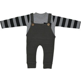 Maaron Dungaree with T-shirt  For Boys Casual Printed cotton (pack of 2)