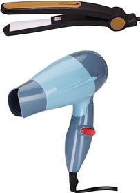 Combo of Mini Trendy Hair Dryer 1000 watt and Hair Straightener 685 for women