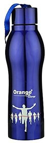 Orange Stainless Steel Energy Trendy Water Bottle, 420 Ml, Blue