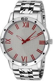 TRUE COLORS  Round Dial Silver Analog Watch For Men -Zr-2275
