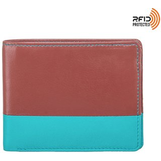 Enfant Terrible 100 Genuine High Quality Leather RFID Blocking Wallet For Men New 2017 Stylish Trendy BiFold With Coin Pocket  Aqua Green Flame New Tan
