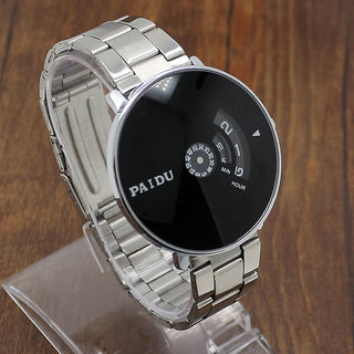 Paidu Black Watch For Men ,Boys New Look And Latest Designing Watch by 5star