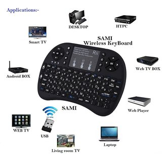 Riitek Rii I8+ Wireless Touchpad Keyboard with Mouse (Black) By Sami