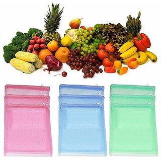 Premium Quality Refrigerator Fruits And Vegetable Storage Bags Multi Purpose Useage Mesh