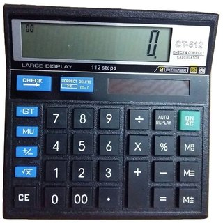 buy amigo calculator 12 digit big display solar with 112 check