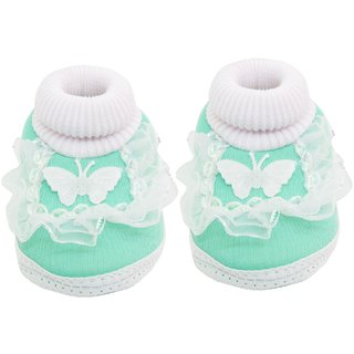 free shipping 2015 Neska Moda Baby Unisex Frill Butterfly Blue Booties/Shoes For 0 To 12 Months Infants-SK138 cheap sale cheap discount comfortable cheap prices authentic a7RdiFyhUT
