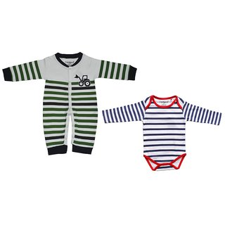 Hash Dungaree with Romper For Boys & girls Casual Printed cotton (pack of 2)