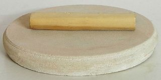 White Sandalwood Stick with Stone Glinder 45 -55 Grams Premium Quality