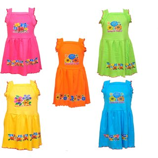 Pari  Prince Monsoon Colorful Frocks (Set Of 5)
