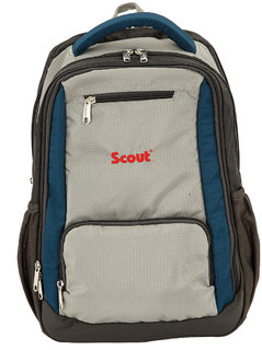 ed6aea09e Scout School Bag, College Multi Utility Laptop Backpack, 15 Liters (Air  force Blue Gray)