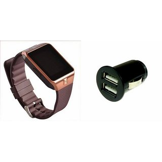 Zemini DZ09 Smart Watch and Car Charger for OPPO JOY 3(DZ09 Smart Watch With 4G Sim Card, Memory Card| Car Charger)