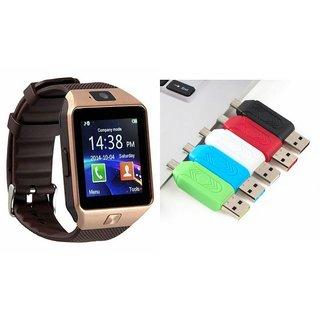 Zemini DZ09 Smart Watch and Card Reader for SAMSUNG GALAXY CORE LITE(DZ09 Smart Watch With 4G Sim Card, Memory Card| Card Reader, Mobile Card Reader)