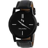KAJARU KJR-1 Black Leather Analog Watch For Men