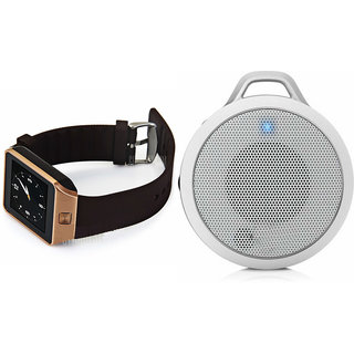 Zemini DZ09 Smart Watch and Clip Plus Bluetooth Speaker for SONY xperia A4(DZ09 Smart Watch With 4G Sim Card, Memory Card  Clip Plus Bluetooth Speaker)