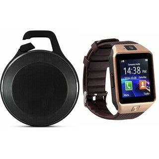 Zemini DZ09 Smart Watch and Clip Plus Bluetooth Speaker for SONY xperia z1 compact(DZ09 Smart Watch With 4G Sim Card, Memory Card| Clip Plus Bluetooth Speaker)