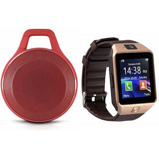 Zemini DZ09 Smart Watch and Clip Plus Bluetooth Speaker for SONY xperia z4v(DZ09 Smart Watch With 4G Sim Card, Memory Card| Clip Plus Bluetooth Speaker)