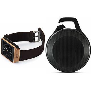 Zemini DZ09 Smart Watch and Clip Plus Bluetooth Speaker for SONY xperia z1f(DZ09 Smart Watch With 4G Sim Card, Memory Card  Clip Plus Bluetooth Speaker)