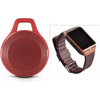 Zemini DZ09 Smart Watch and Clip Plus Bluetooth Speaker for SONY xperia J1  compact (DZ09 Smart Watch With 4G Sim Card, Memory Card| Clip Plus Bluetooth Speaker)