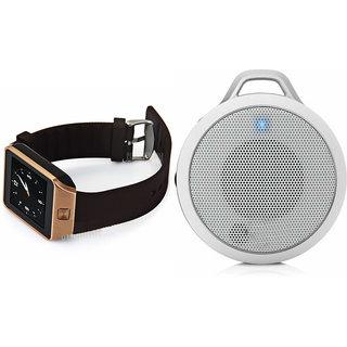 Zemini DZ09 Smart Watch and Clip Plus Bluetooth Speaker for LENOVO a3900(DZ09 Smart Watch With 4G Sim Card, Memory Card| Clip Plus Bluetooth Speaker)
