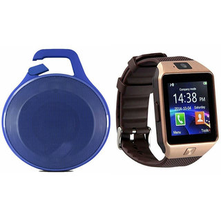 Zemini DZ09 Smart Watch and Clip Plus Bluetooth Speaker for VIVO x shot(DZ09 Smart Watch With 4G Sim Card, Memory Card| Clip Plus Bluetooth Speaker)