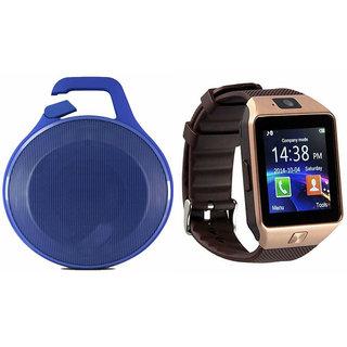 Zemini DZ09 Smart Watch and Clip Plus Bluetooth Speaker for SONY xperia E4 dual(DZ09 Smart Watch With 4G Sim Card, Memory Card| Clip Plus Bluetooth Speaker)