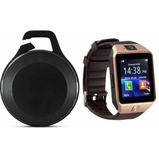 Zemini DZ09 Smart Watch and Clip Plus Bluetooth Speaker for LENOVO vibe z(DZ09 Smart Watch With 4G Sim Card, Memory Card| Clip Plus Bluetooth Speaker)