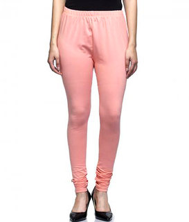 INKDICE Women's Cotton Lycra Stretchable Churidar Leggings - Free Size Comfortable Stylish Girl's Churidar Full length