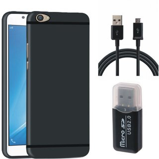Lenovo K8 Silicon Slim Fit Back Cover with Memory Card Reader, USB Cable
