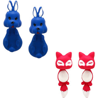 Penny Jewels Alloy Party Wear Fashionable Latest Designer 2 Pair  Beautiful Combo Animal Earring Set For Women