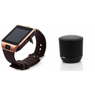 Zemini DZ09 Smartwatch and Hopestar H 9 Bluetooth Speaker  for HTC ONE E9(DZ09 Smart Watch With 4G Sim Card, Memory Card| Hopestar H 9 Bluetooth Speaker)